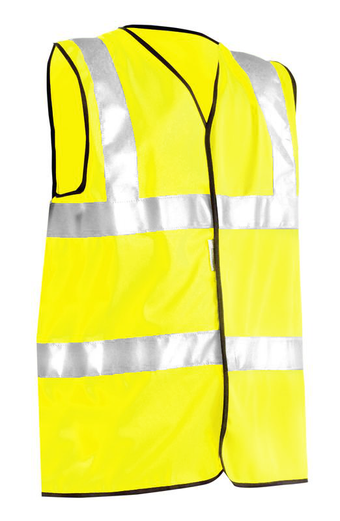 Occunomix OccuLux Standard High Visibility Vest LUX-SSFULLG Yellow Front