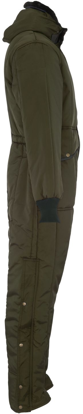 RefrigiWear 0381 Iron-Tuff Winter Work Coverall With Hood Sage Right