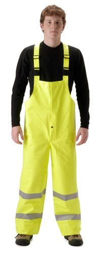 nasco sentinel hi vis arc flash fire chemical resistant rain bib