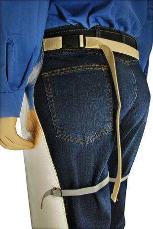 Otterlayer aluminized chaps belt and leg harness detail LC4-ACF