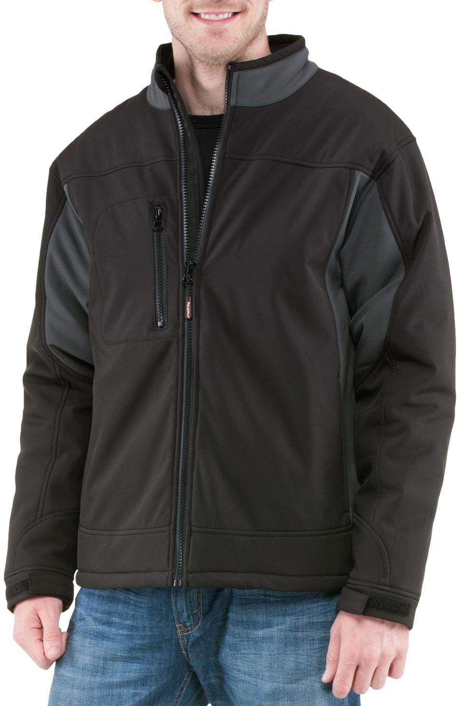 RefrigiWear 0490 Softshell Insulated Work Jacket Black Left Example