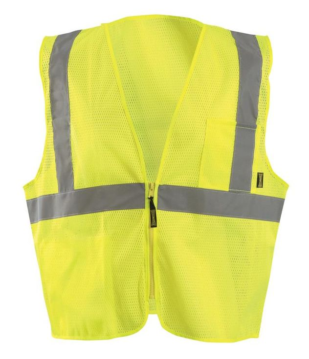 Occunomix ECO-IMZX Mesh X-Back Vest with Zipper Front Yellow