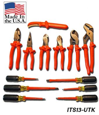 Cementex ITS-13UTK Insulated Utility Tool Kit, 13PC
