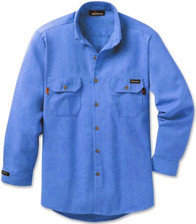 Workrite 7 oz Nomex FR Dress Shirt 258MH70 Medium Blue