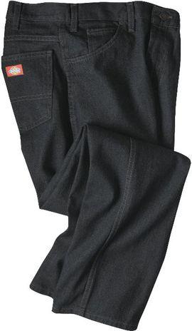 Dickies Men's Jeans - Industrial Regular Fit Jean C993 - Rinsed Black