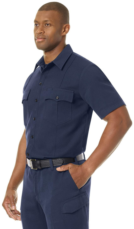 Workrite FR Shirt FSM2, Station No. 73, Uniform Navy Example Left