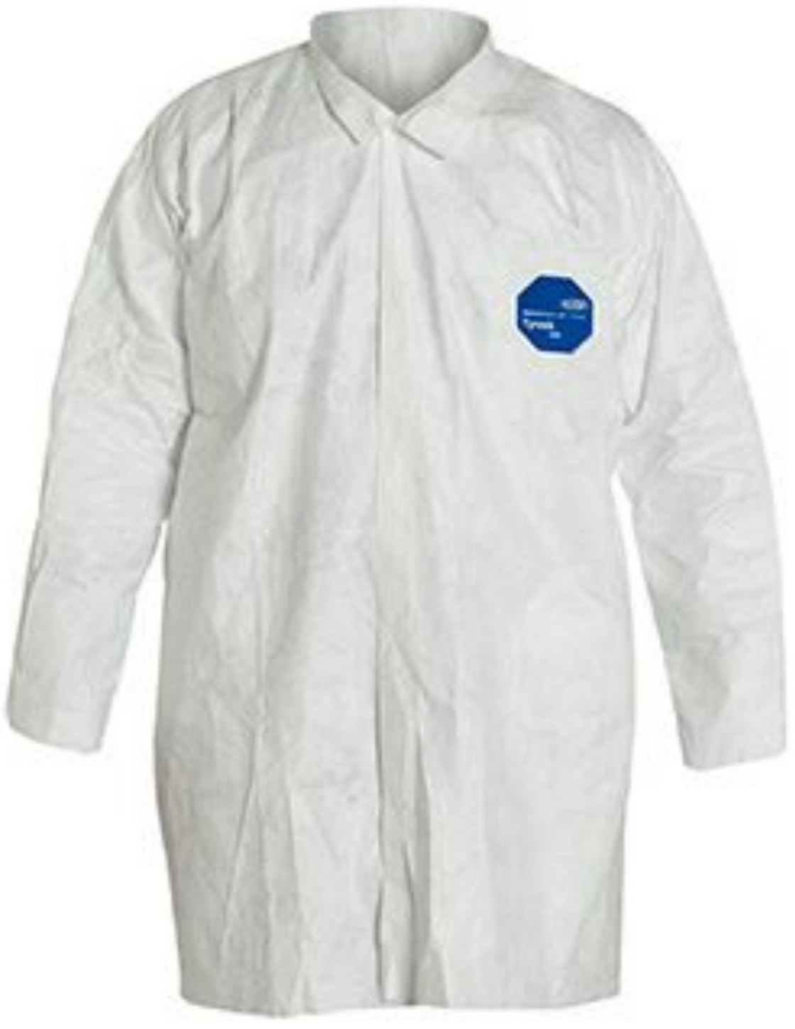 DuPont Tyvek Frock with Open Wrists & Front Snap Closure - TY210SWH Front