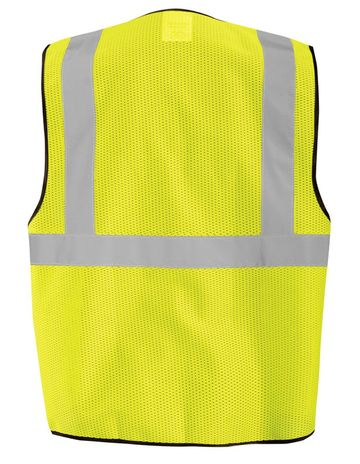 Occunomix ECO-GCZ Mesh Standard Vest With Zipper Yellow Back