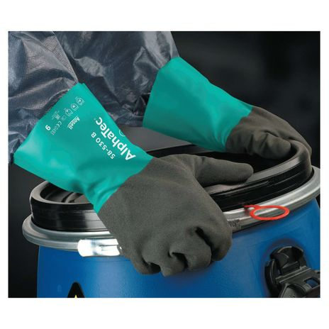Ansell AlphaTec Supported Nitrile Gloves 58-530B Barrel