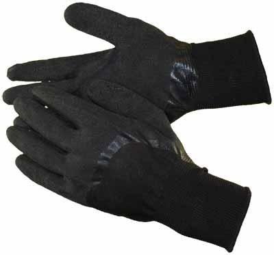 black latex coated gloves knuckles hs3309