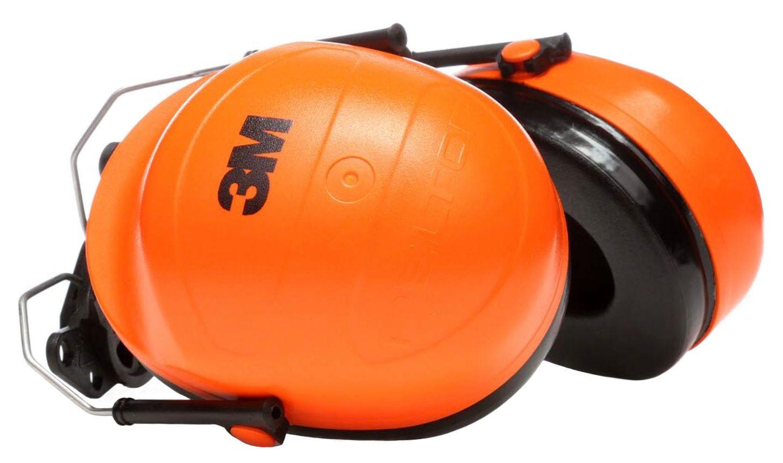 3M Peltor Orange Hi-Viz Earmuffs H31P3E Cap Mount Side
