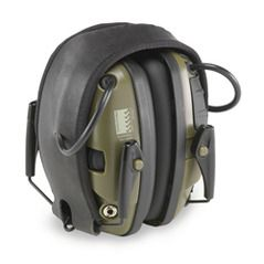 Howard Leight Impact Sport R-01526 Earmuffs with Electronic Sound Amplification