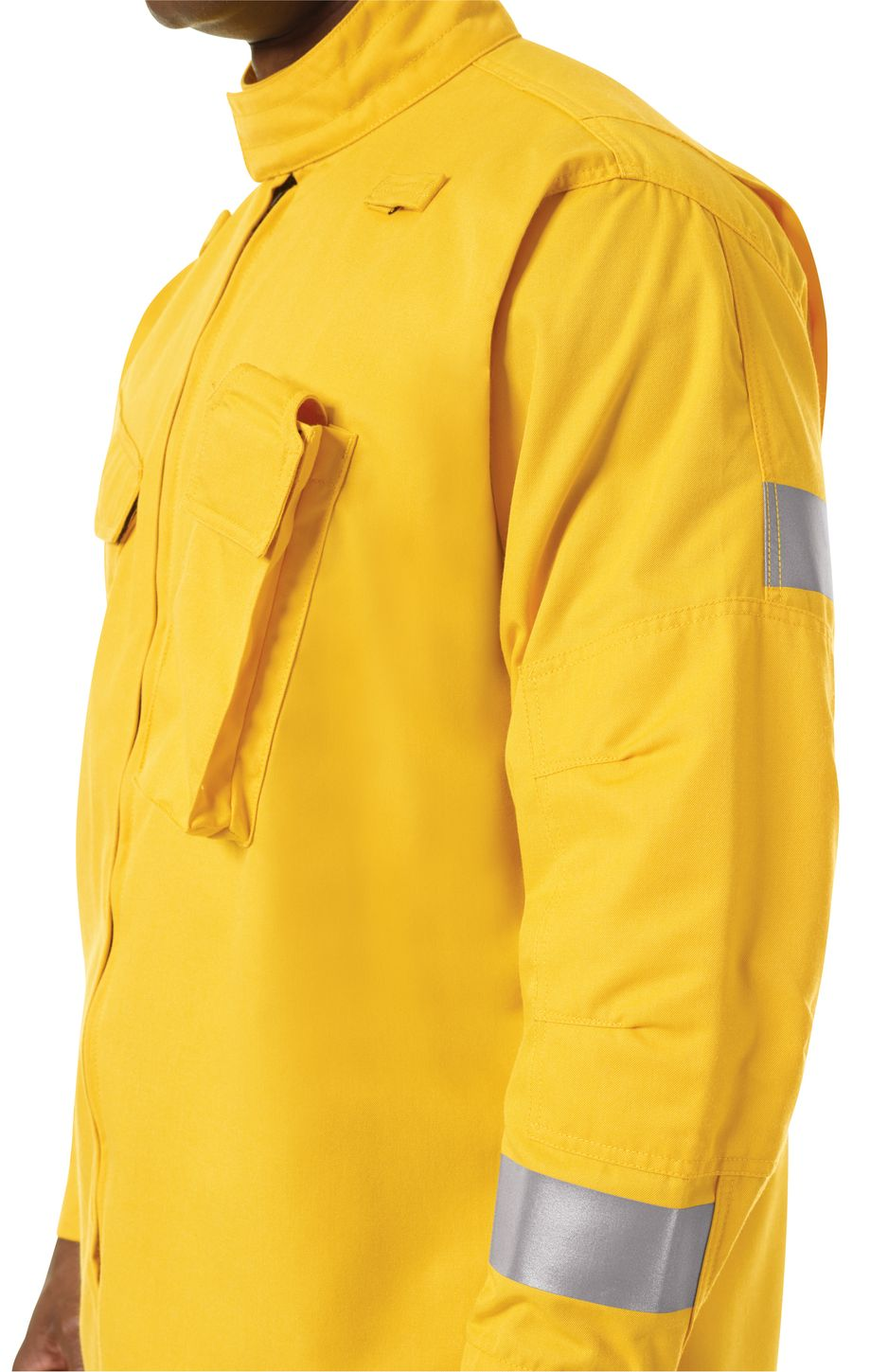 Workrite FR Jacket FW81, Relaxed Fit Wildland Yellow Example