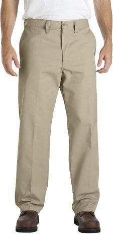Dickies Men's Pants - Industrial Flat Front Comfort Waist Pant LP817 - Khaki