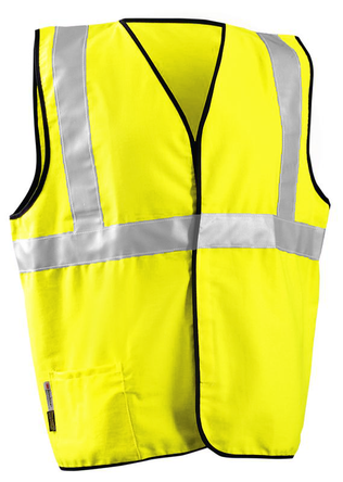 Occunomix High Visibility Class II Arc Flash Rated Vest LUX-SSCGFR Front