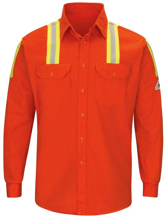 bulwark-fr-shirt-slat-midweight-enhanced-visibility-uniform-silver-yellow-striping-orange-front.jpg