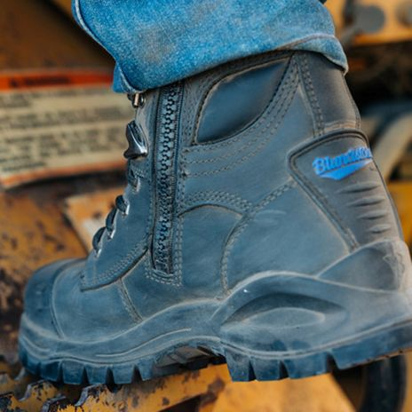 """Blundstone 997 XFOOT Rubber Ankle Lace-Up Steel Toe Boots - 6"""", Water Resistant Example Back"""