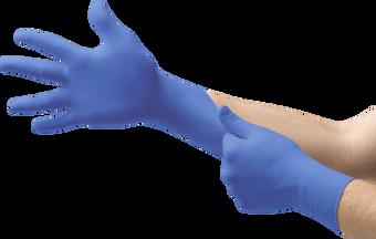 Ansell Microflex® N27 Blue Nitrile Disposable Gloves - Powder Free Free