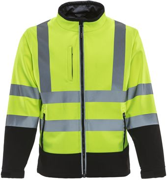 RefrigiWear 9291 — HiVis Softshell Jacket Front