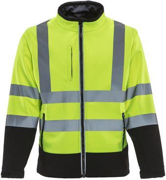 RefrigiWear 9291 — HiVis Softshell Jacket Front