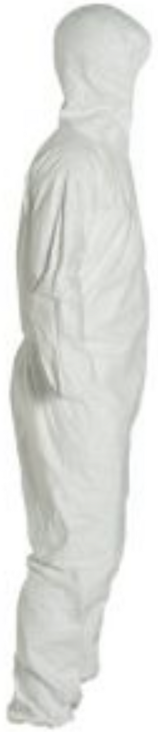 DuPont Tyvek Disposable Suit with Hood & Elastic Wrists & Ankles - TY127SWH Right Side