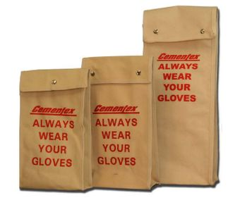 Cementex Glove Storage Bag with Snap Closure