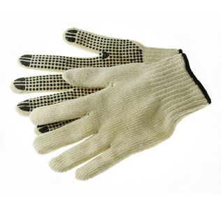 Phoenix HA1212 Working Gloves, 7ga Cotton/Polyester, PVC Dotted Palm