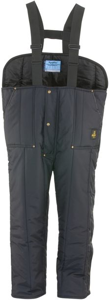 RefrigiWear 0345 Iron-Tuff Insulated Work Overall Low Bib Navy Front