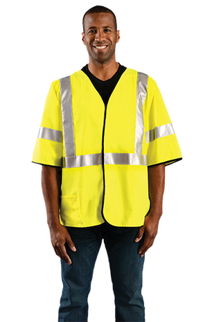 Occunomix LUX-HSG3FR Hi-Viz Flame Resistant Single Stride Solid Vest