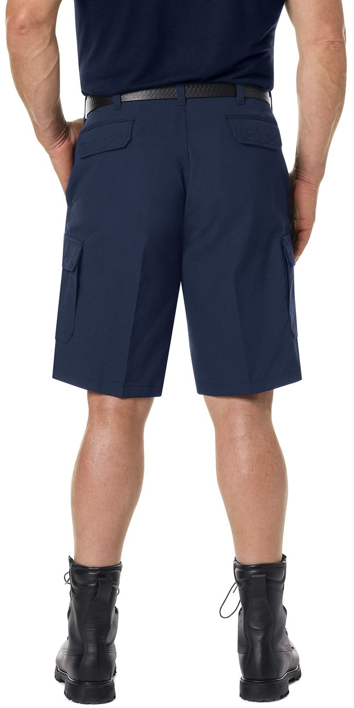 Workrite FR Cargo Shorts FP42, Classic 12-Inch Navy Example Back