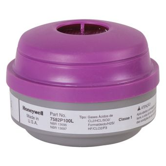 Honeywell North Safety 7582P100L Acid Gas Cartridges With P100 Filters N Series