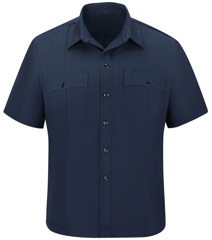 Workrite FR Shirt FSU2, Untucked Uniform, Station No. 73 Navy Front