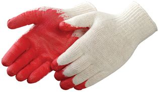 Liberty 4749 Economy Red Latex Coated Gloves