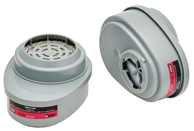 MSA Advantage 815641 Iodine and OV GMI Cartridge with P100 Filter
