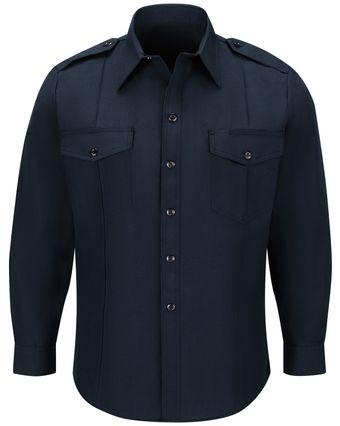 Workrite FR Fire Chief Shirt FSC4 Classic Long Sleeve Midnight Navy Front