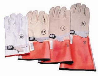 CPA High Voltage Leather Protector Gloves