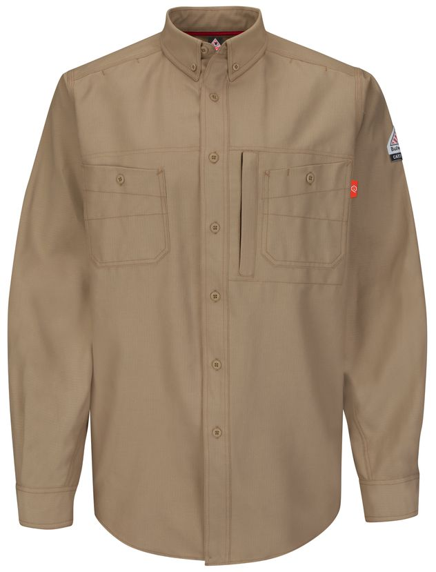bulwark-fr-shirt-qs42-iq-series-uniform-endurance-collection-khaki-front.jpg