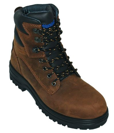 """Blundstone 143 XFOOT Lace-Up Steel Toe Safety Boots - 6"""", Water Resistant Left"""