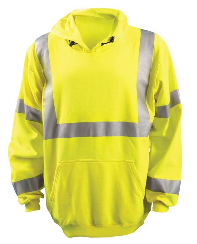 Occunomix LUX-SWT3FR HI-Viz Flame Resistant Pullover Hoodie Front