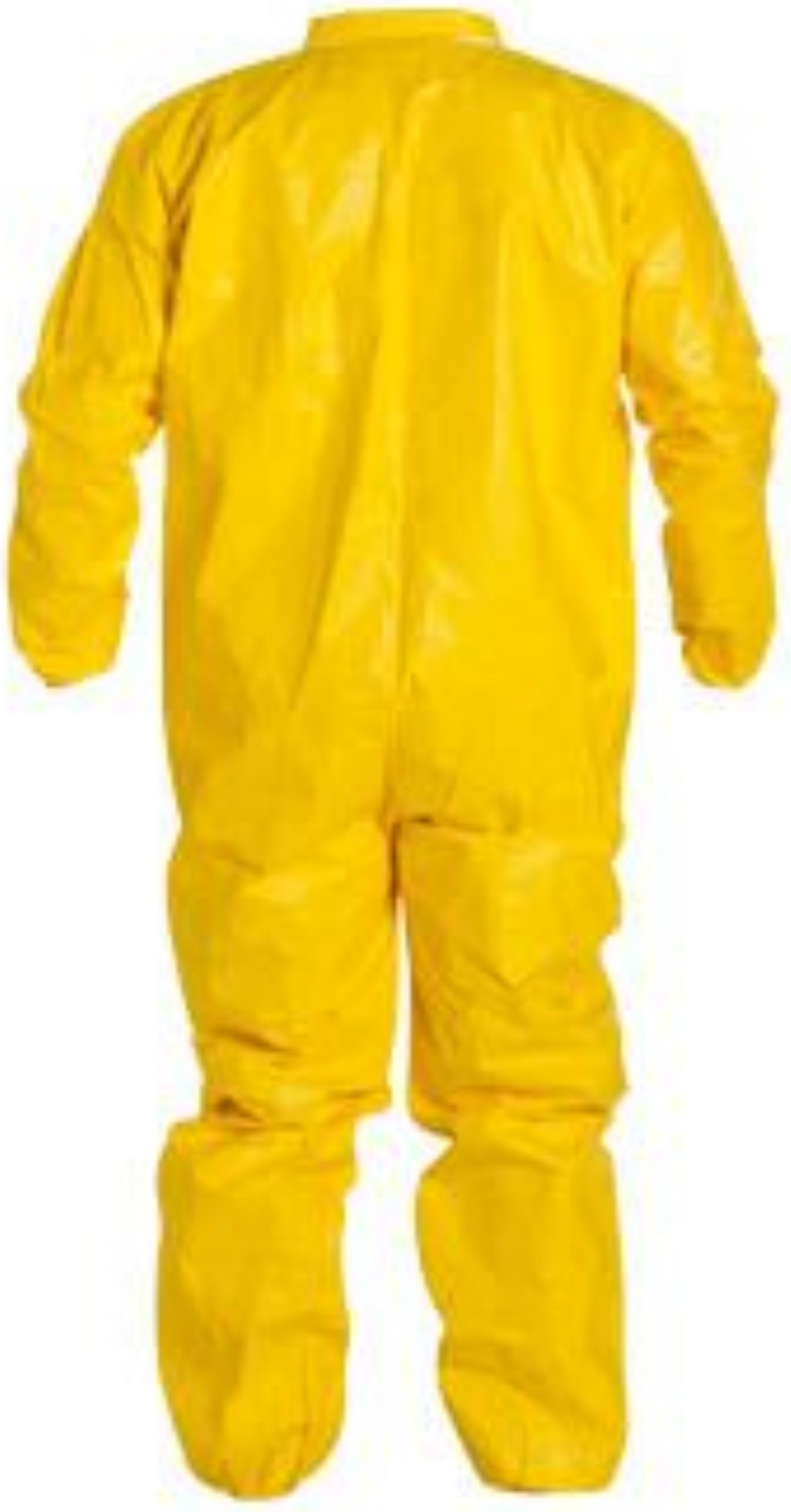 DuPont Tychem QC Coveralls with Elastic Wrists and Ankles QC125 Back