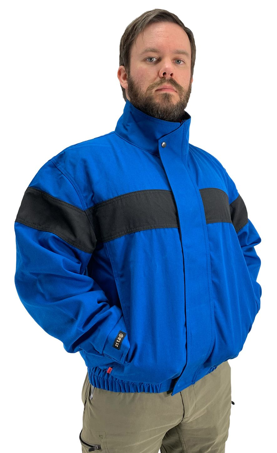 Workrite Fire Resistant Safety Jacket 300NX60/3006 - 6 oz Nomex® IIIA Royal Blue Front