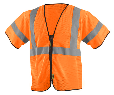Occunomix ECO-GCZ3 Mesh Standard Vest With Zipper Front Orange