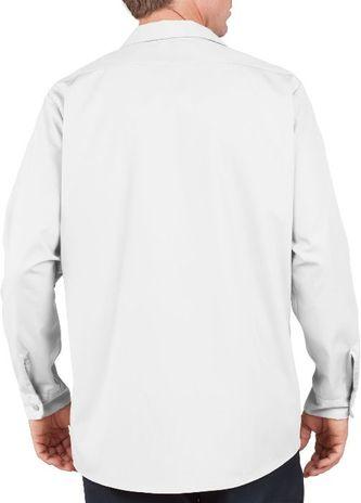 Dickies Men's Shirts - Long Sleeve Industrial Work Shirt LL535 - White