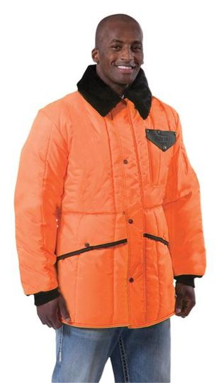 RefrigiWear 0342HV HiVis Iron-Tuff Insulated Work Jackoat - Orange