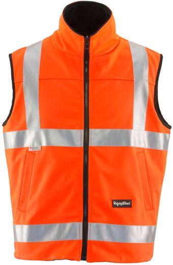 RefrigiWear 9499 HiVis Reversible Softshell Vest Orange Front