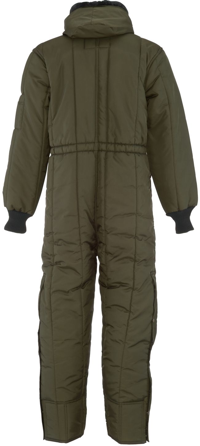 RefrigiWear 0381 Iron-Tuff Winter Work Coverall With Hood Sage Back