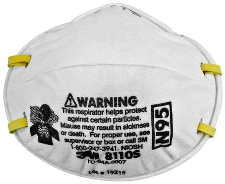 3M Particulate Respirator 8110S - N95 Front