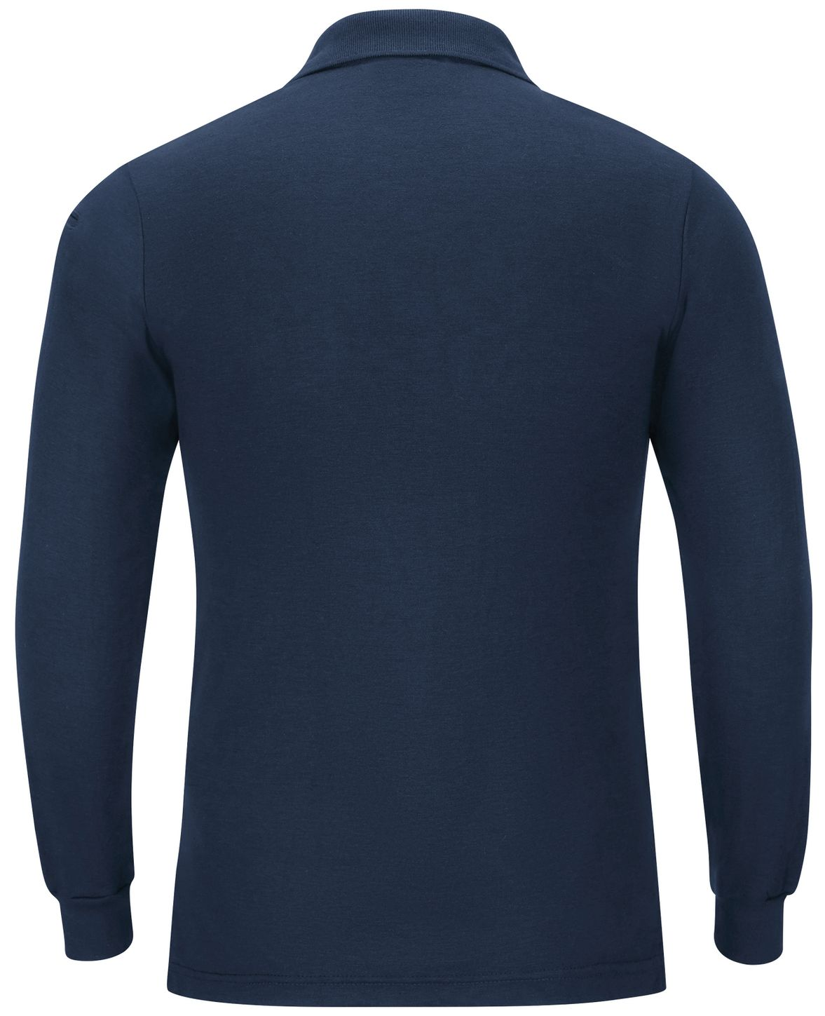 Workrite FR Polo Shirt FT20 Long Sleeve Fire Station Wear Navy Back