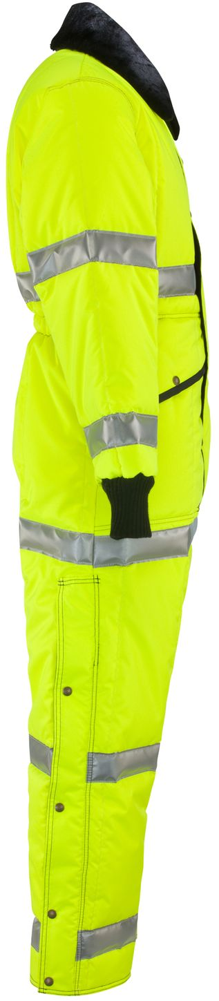 RefrigiWear 0344L2 Hivis Iron-Tuff Coverall Lime Right