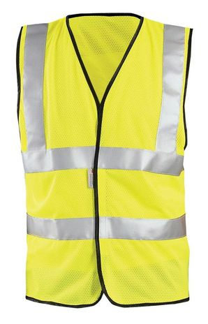 Occunomix OccuLux Cool Mesh and High Visibility Vest LUX-SSCOOLG Front Yellow